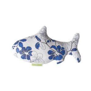 Bouillotte poisson fleurs bleues