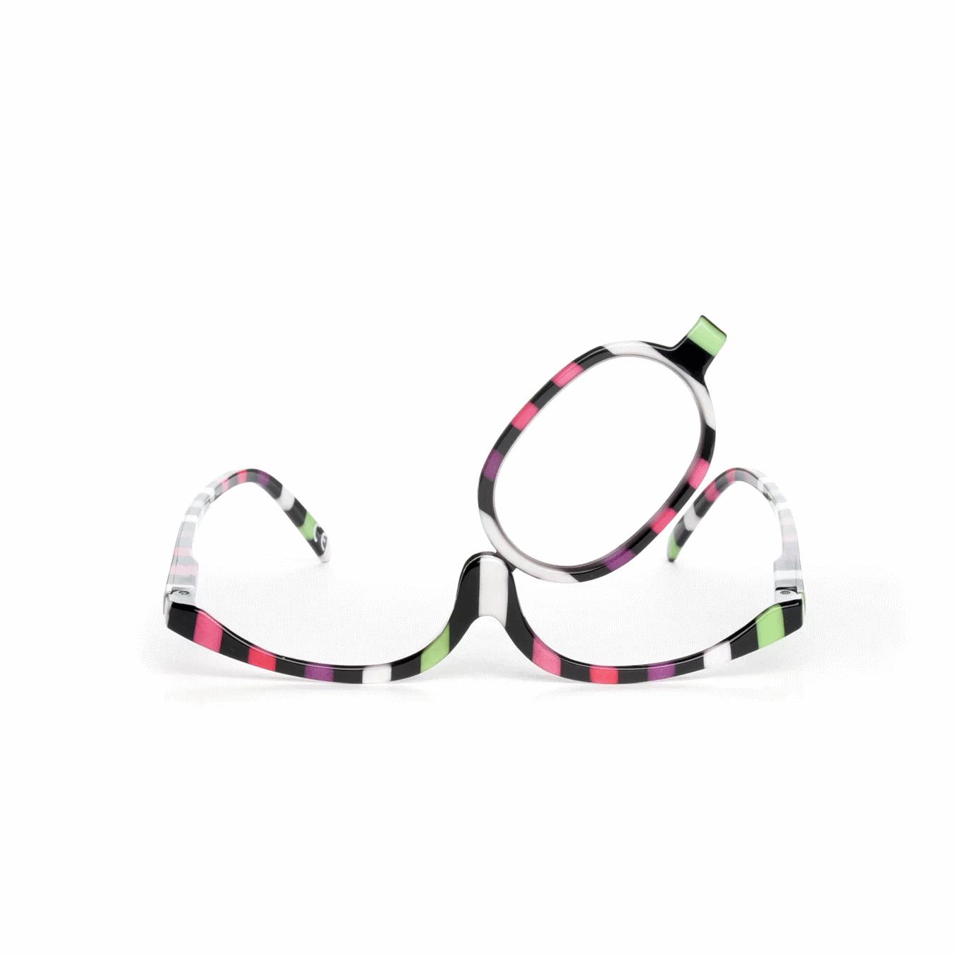 couleur senior lunettes de maquillage verre pivotant pour se maquiller avec pr cision. Black Bedroom Furniture Sets. Home Design Ideas