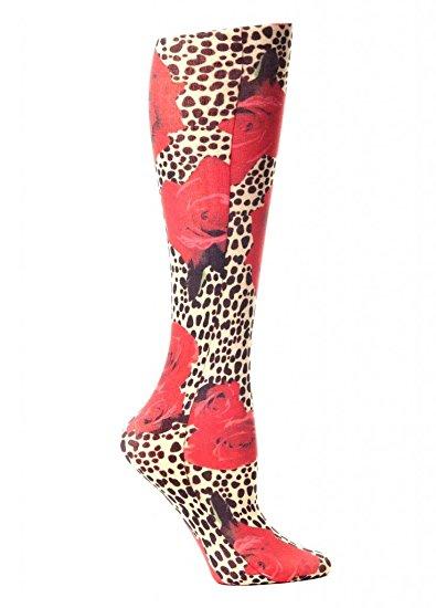 Chaussette de contention pour jambes lourdes. Modèle Roses sauvages.