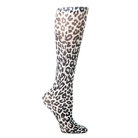 Chaussette de contention pour jambes lourdes. Modèle Léopard.