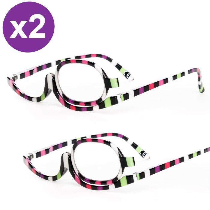 Lot de 2 lunettes de maquillage Rosy