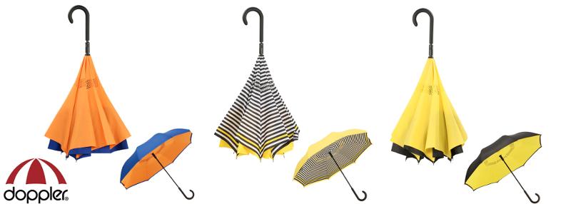 Sélection par CouleurSenior de parapluies innovants à pliage inversé