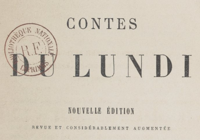 Contes du lundi_Alphonse Daudet