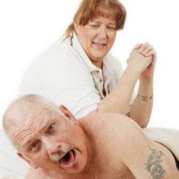 Massage avec force